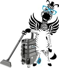 Flying Zebra Cleaning Logo