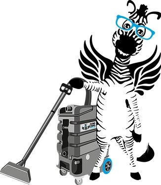 Flying Zebra Vacuuming
